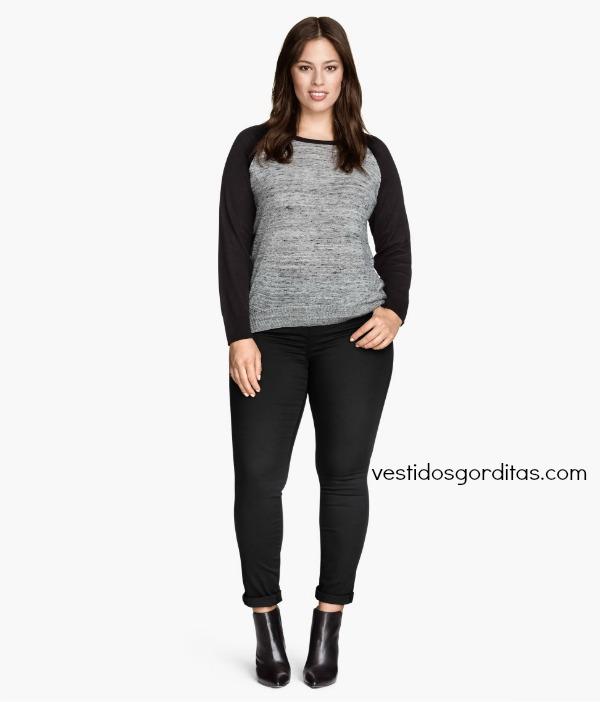 Pantalones de mezclilla skinny jeans para gorditas