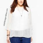 ❣ Clásica blusa con encaje ❣