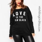 ❣  Suéter negro y pantalón de piel  ❣